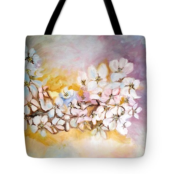 Apple Blooms Tote Bag