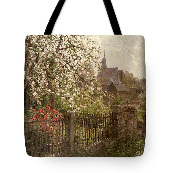 Apple Blossom Tote Bag by Alfred Muhlig