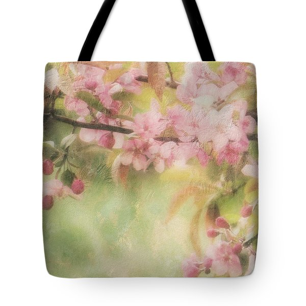 Apple Blossom Frost Tote Bag