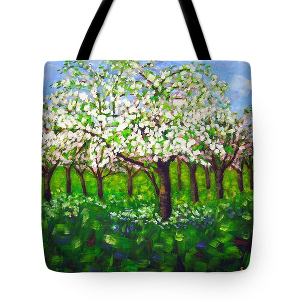 Apple Blossom Orchard Tote Bag