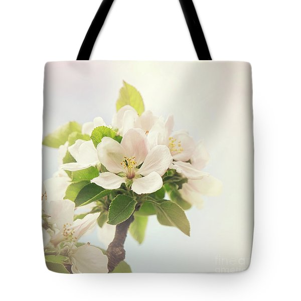 Apple Blossom Retro Style Processing Tote Bag