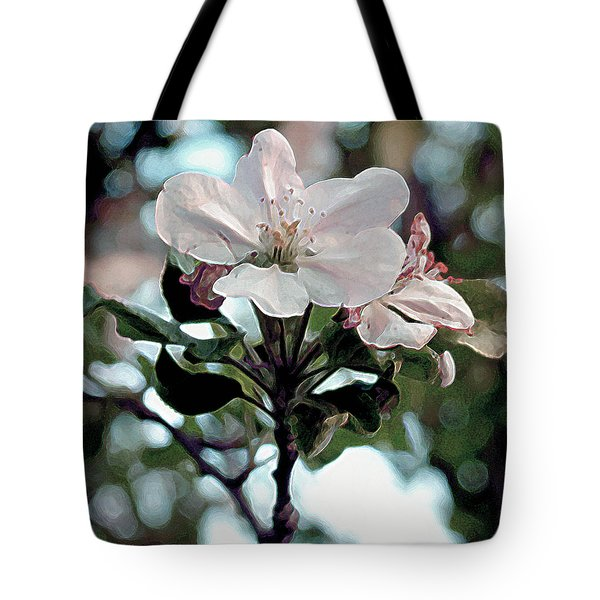Tote Bag featuring the painting Apple Blossom Time by RC DeWinter