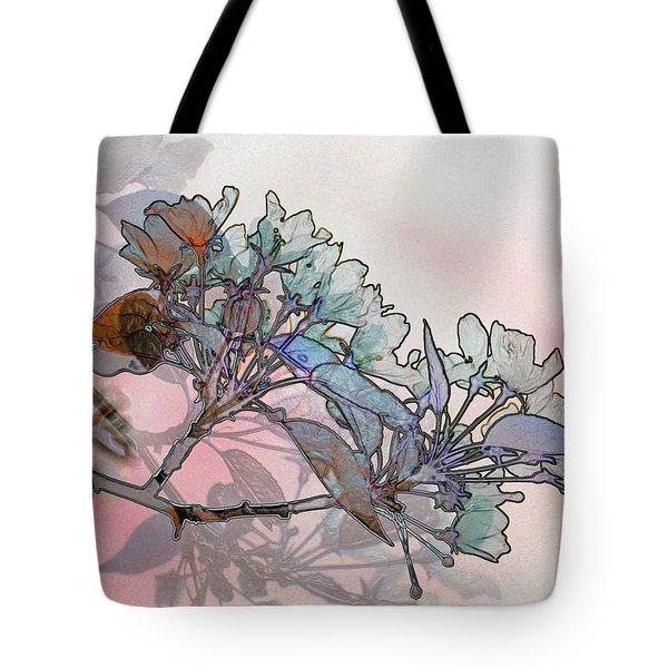 Tote Bag featuring the digital art Apple Blossoms by Stuart Turnbull