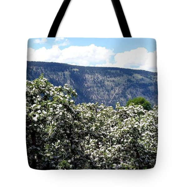 Apple Blossoms Tote Bag by Will Borden