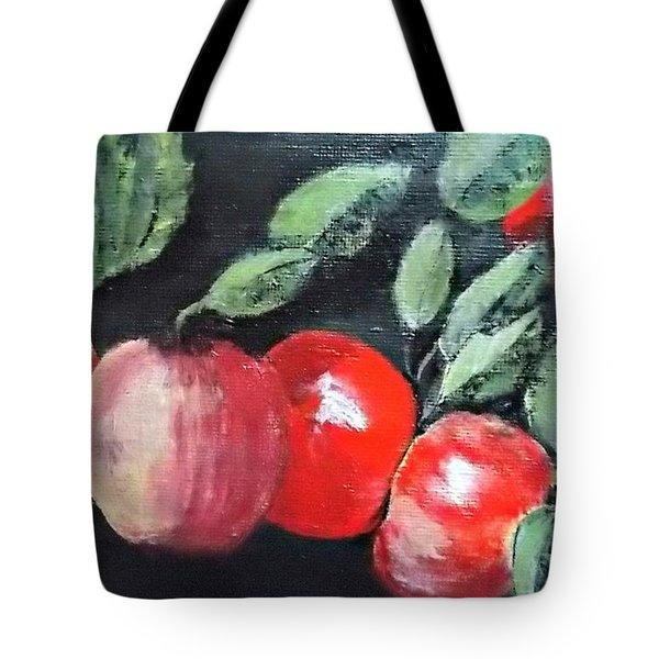 Apple Bunch Tote Bag by Francine Heykoop