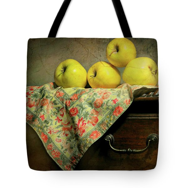 Tote Bag featuring the photograph Apple Cloth by Diana Angstadt
