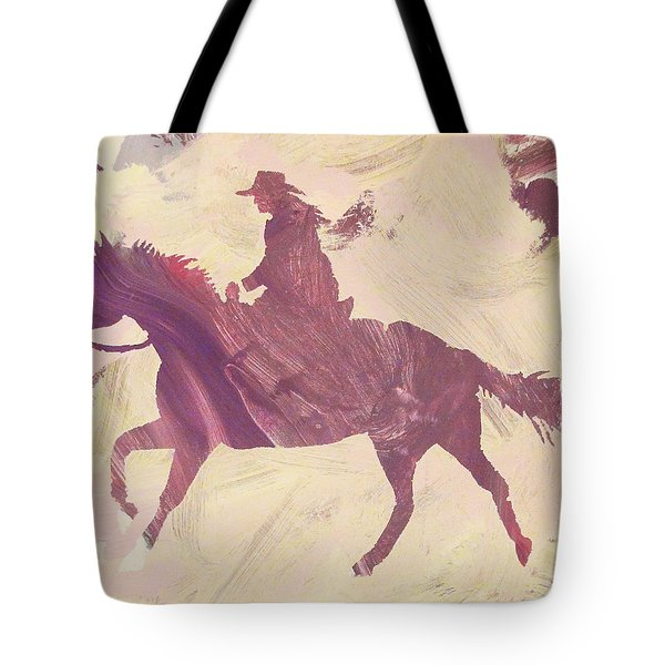 Apple Cowgirl Tote Bag