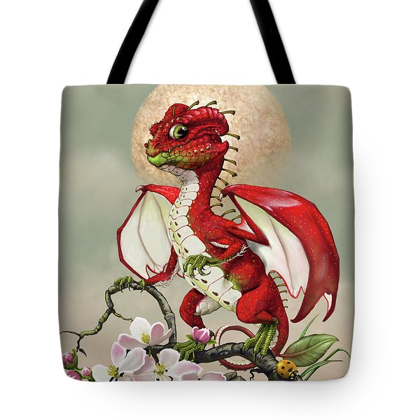Tote Bag featuring the digital art Apple Dragon by Stanley Morrison