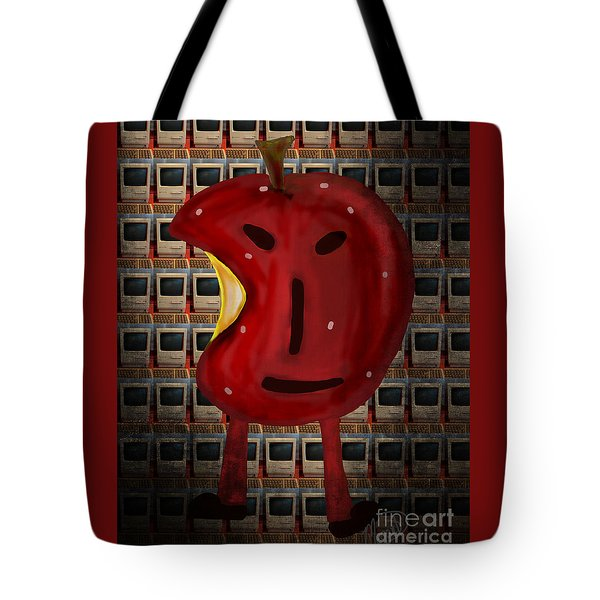 Tote Bag featuring the digital art Apple Head by Megan Dirsa-DuBois