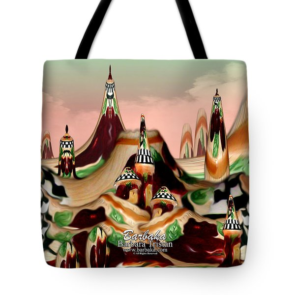 Apple Land Countryside Tote Bag by Barbara Tristan