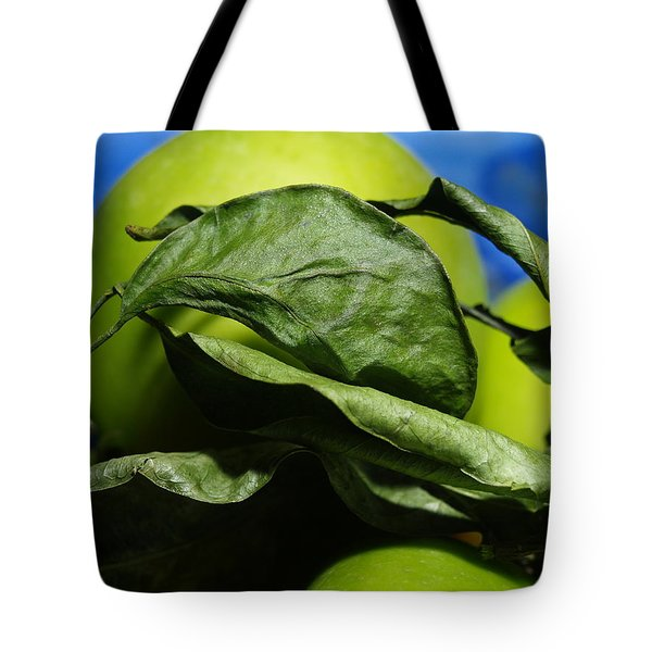 Apple Leaves Tote Bag