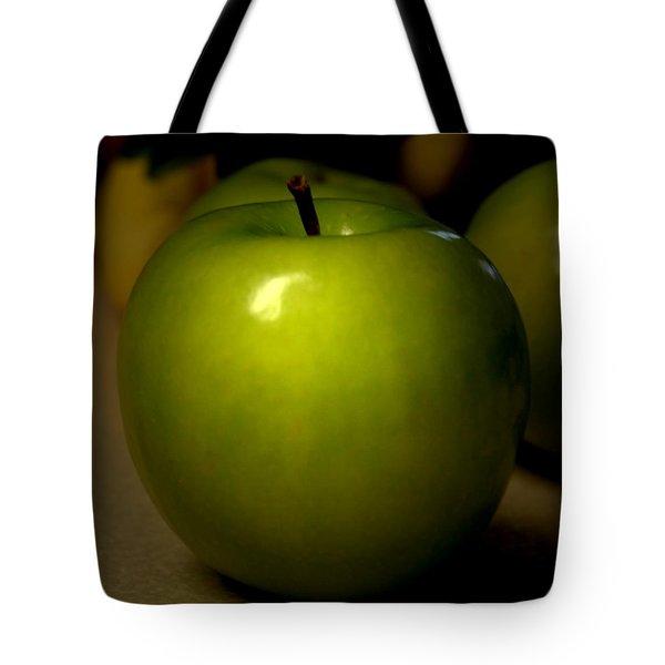 Apple Tote Bag by Linda Sannuti