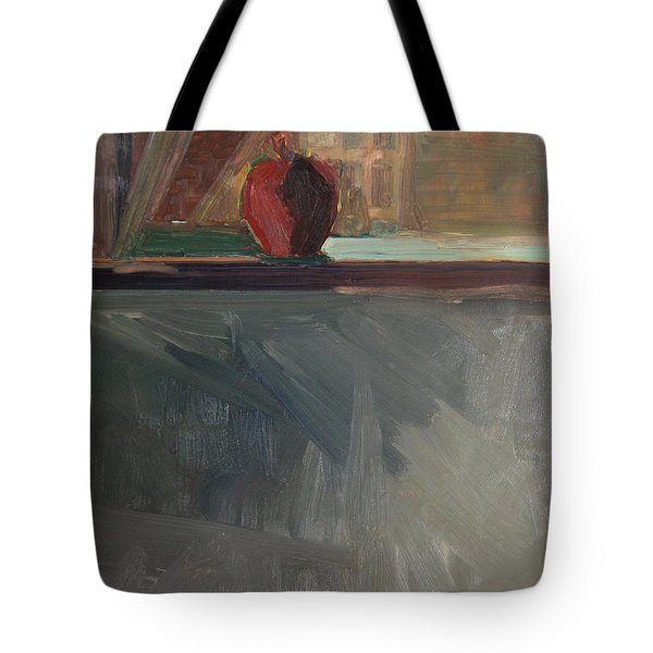 Apple On A Sill Tote Bag by Daun Soden-Greene