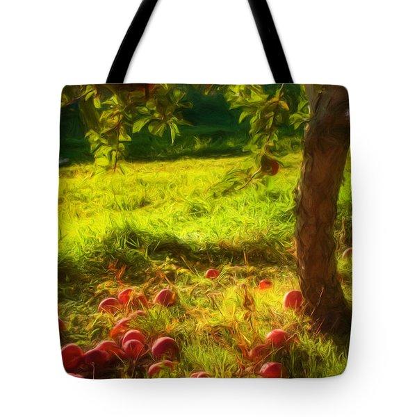 Apple Picking Tote Bag by Joann Vitali