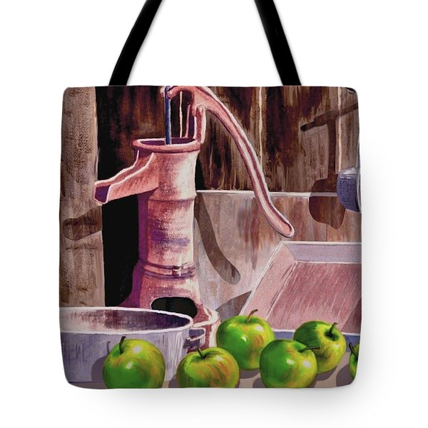 Apple Pie Tote Bag by Ron Chambers