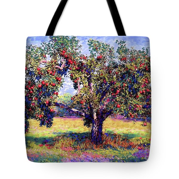 Apple Tree Orchard Tote Bag