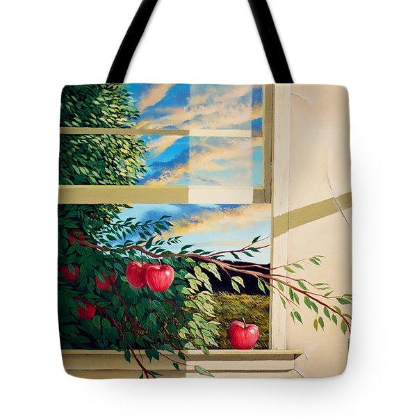 Apple Tree Overflowing Tote Bag