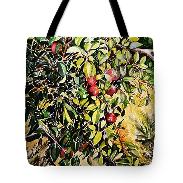 Tote Bag featuring the painting Apple Tree by Priti Lathia