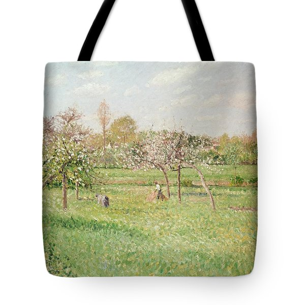 Apple Trees At Gragny Tote Bag by Camille Pissarro