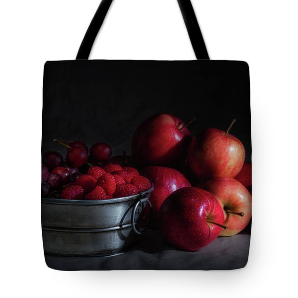 Apples And Berries Panoramic Tote Bag