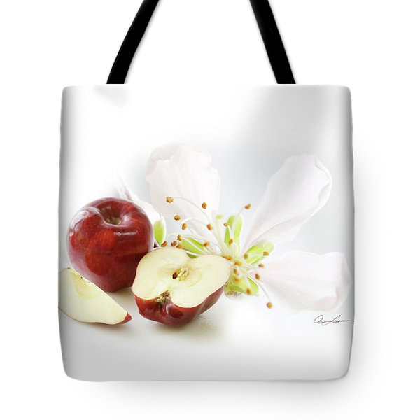 Apples And Blossom Tote Bag
