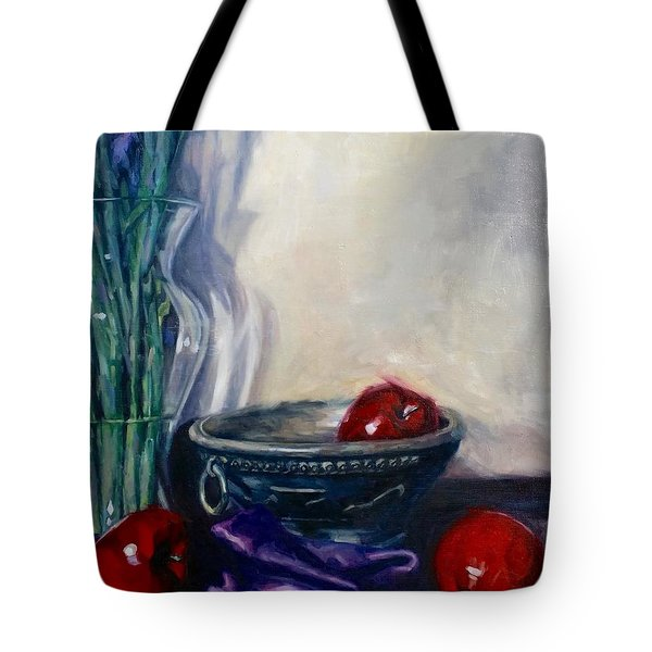 Apples And Silk Tote Bag