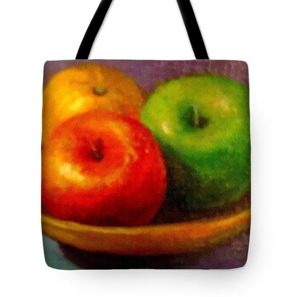 Apples Tote Bag by Eun Yun