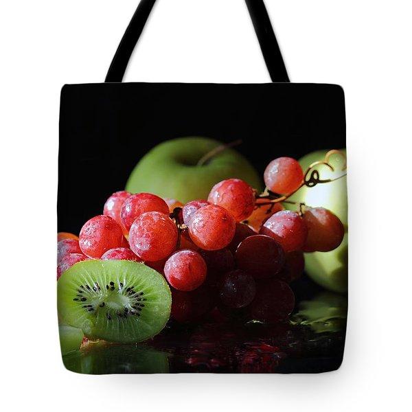 Apples, Grapes And Kiwi  Tote Bag
