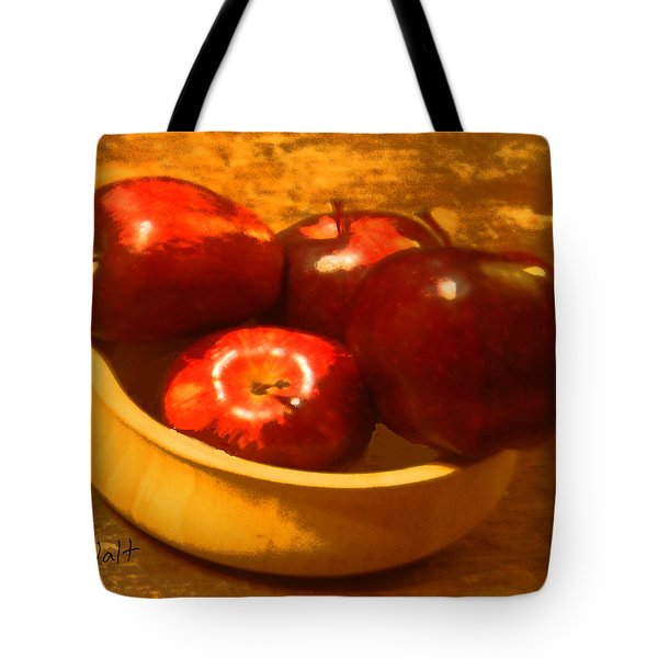 Apples In A Bowl Tote Bag