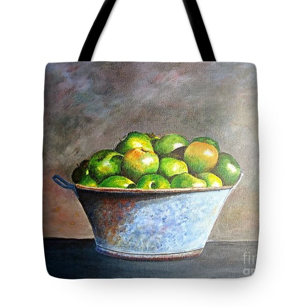 Apples In A Rusty Bucket Tote Bag