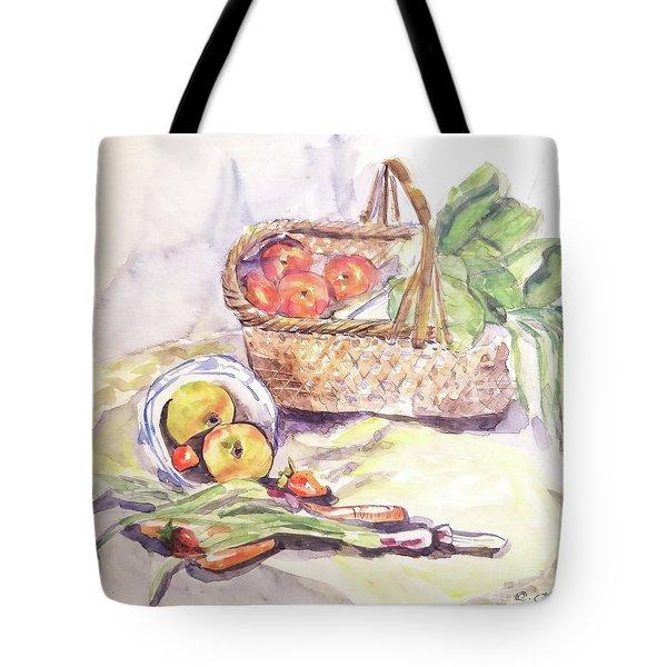 Apples In Basket Tote Bag