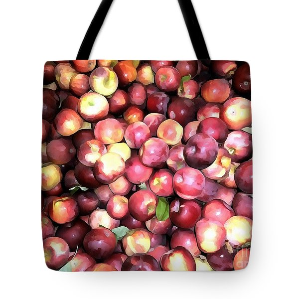 Apples Tote Bag by Janine Riley