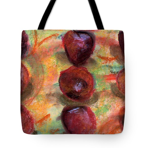Tote Bag featuring the painting Apples R Us by Julie Maas