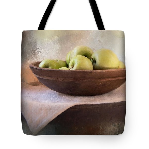 Tote Bag featuring the photograph Apples by Robin-Lee Vieira