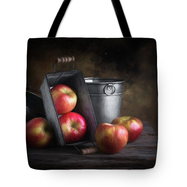 Apples With Metalware Tote Bag