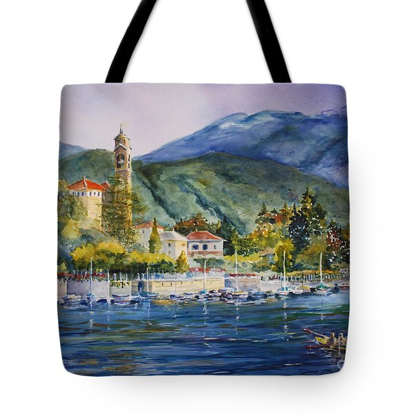 Approaching Bellagio Tote Bag by Betsy Aguirre