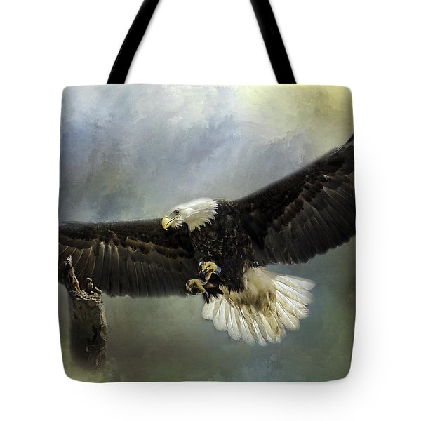 Approaching His Perch Tote Bag