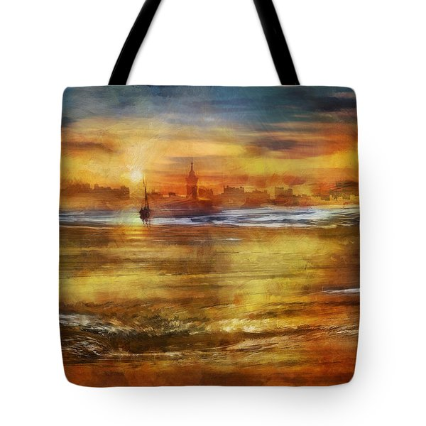 Approaching Novigrad Tote Bag