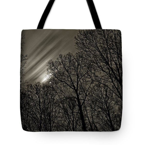 Approaching Storm, Black And White Tote Bag
