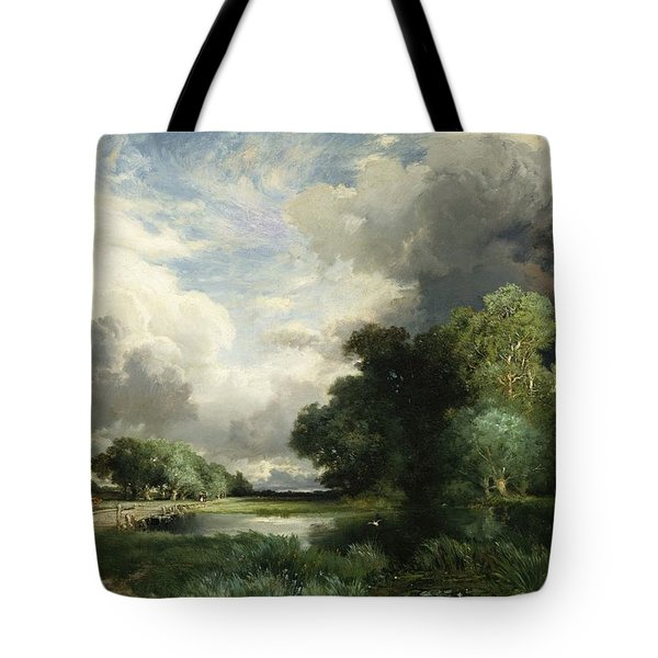 Approaching Storm Clouds Tote Bag by Thomas Moran