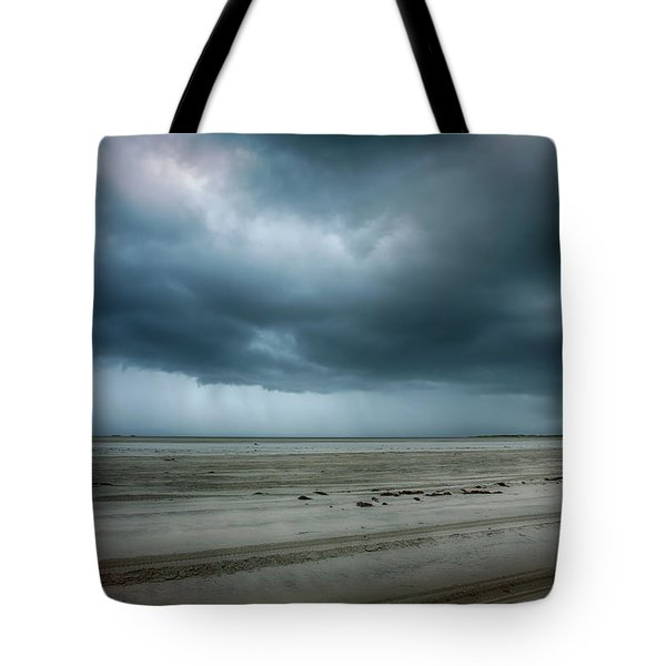 Approaching Storm On Ocracoke Outer Banks Tote Bag