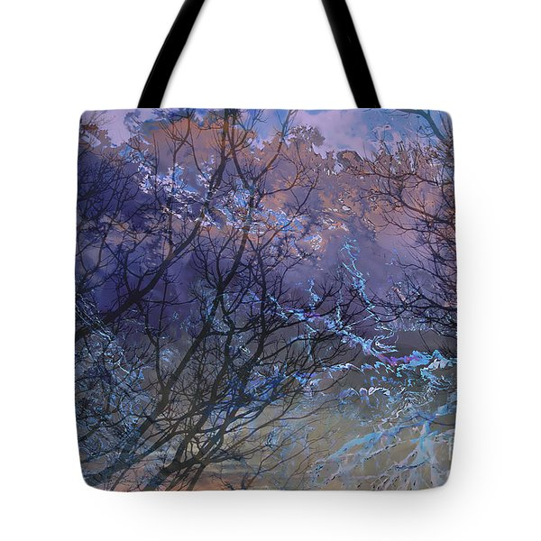 Tote Bag featuring the painting Spring Rain by Ursula Freer