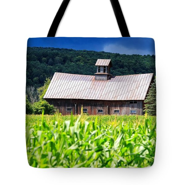 Approaching Storm Vermont Barn Tote Bag