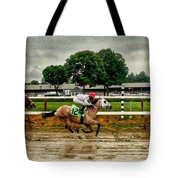 Approaching The Far Turn Tote Bag