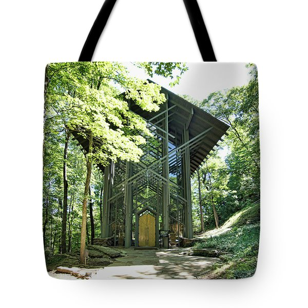 Tote Bag featuring the photograph Approaching Thorncrown Chapel by Cricket Hackmann