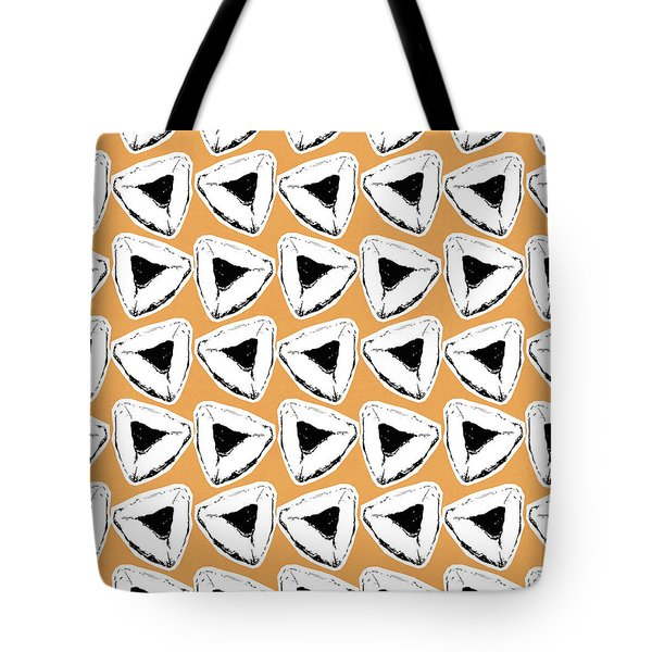 Tote Bag featuring the mixed media Apricot Hamentashen- Art By Linda Woods by Linda Woods