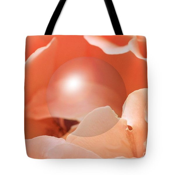 Apricot Rose With Sphere Tote Bag