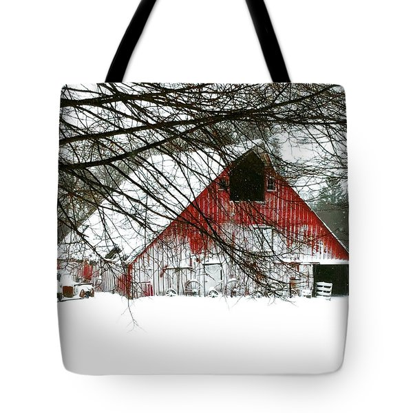 April Blizzard Tote Bag