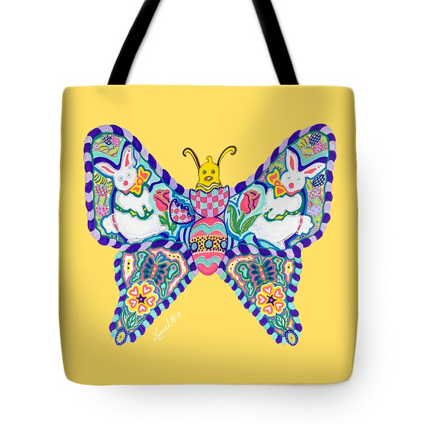 April Butterfly Tote Bag