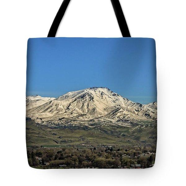 April Snow Tote Bag by Robert Bales